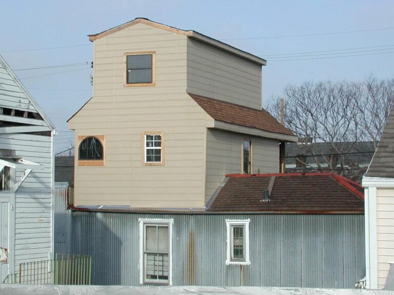 A house that have vinyl siding