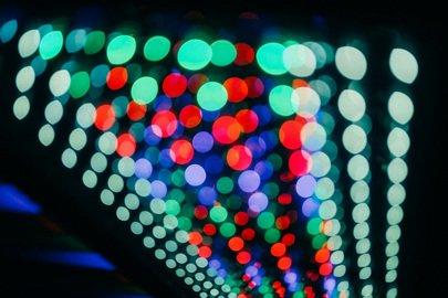 an array of LED lights